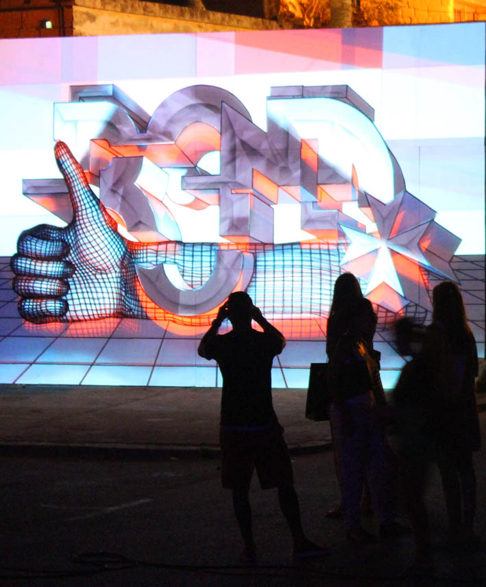 Projection Mapping collaboration with Digital Nature @ Malta Street Art Festival