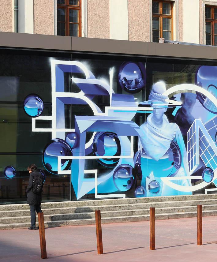 Next Comic Festival @ OÖKulturquartier Linz, Austria / Mural