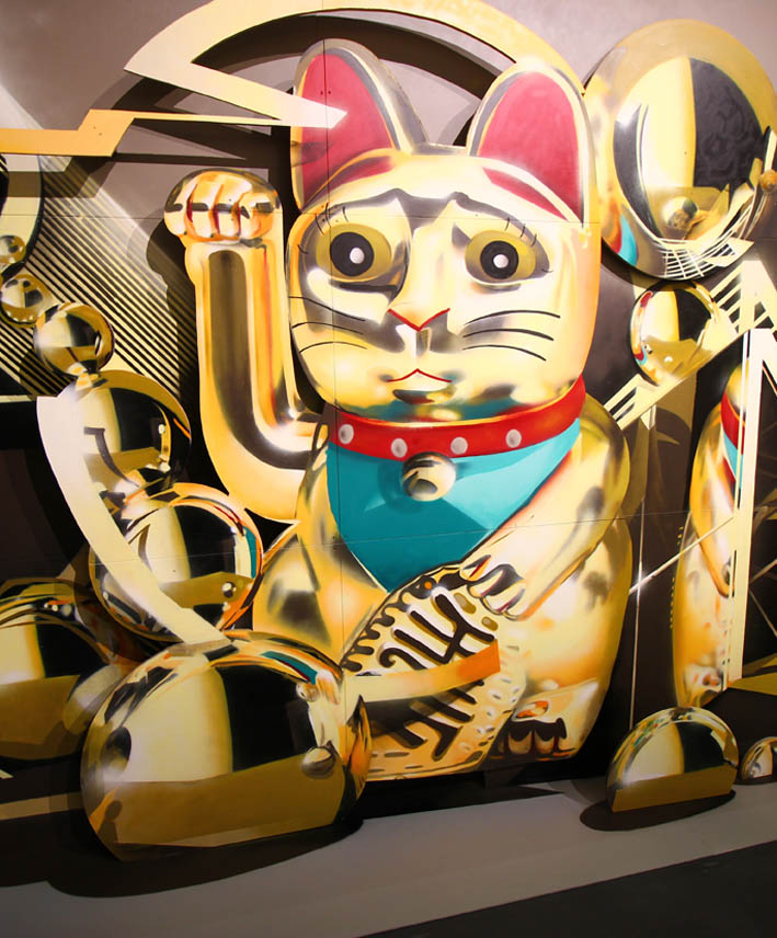 Maneki Neko gold edition xoxoxo @ Magic City Exhibition / Munich / 2017